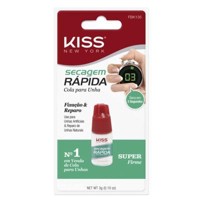 Imagem 1 do produto Cola Secagem Rápida First Kiss - Cola de Unha - 3g
