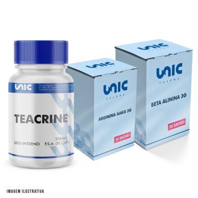 Imagem 1 do produto Kit Pré Treino Com Beta Alinina + Arginina AAKG + Teacrine