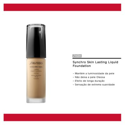Imagem 5 do produto Synchro Skin Lasting Liquid Foundation SPF 20 Shiseido - Base Líquida - R4 - Rose 4