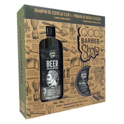 QOD Barber Shop Beer Walk Kit - Shampoo + Pomada Capilar - Kit