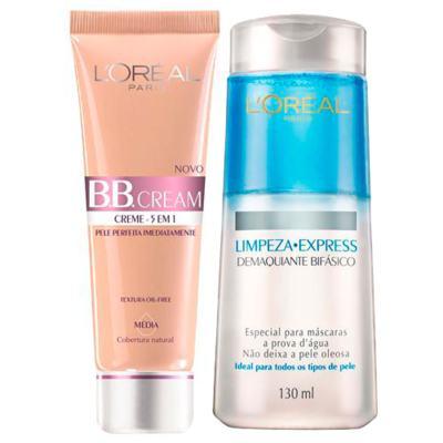 Imagem 1 do produto Kit BB Cream L'oréal Paris - BB Cream 5 em 1 + Demaquilante Bifásico - Kit