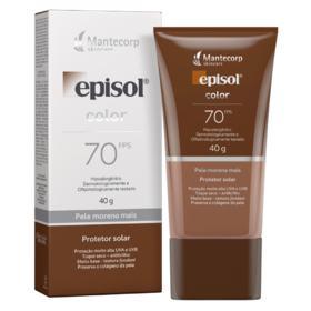 Protetor Solar Facial Episol Color FPS70 - Pele Morena Mais   40g