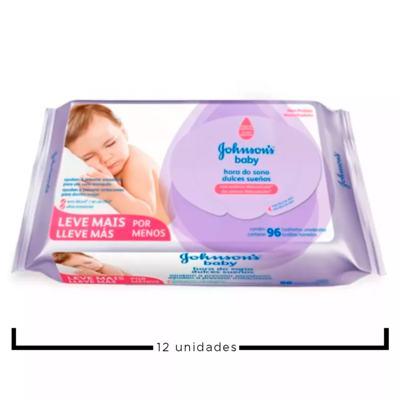 Imagem 2 do produto Kit Johnson's Baby Hora do Sono - Toalhas Umedecidas - 12x 96 Un