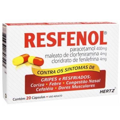 Imagem 3 do produto Resfenol 20 cápsulas Kley Hertz - 20 cápsulas