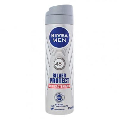 Imagem 1 do produto Desodorante Nivea Aerosol Silver Protect Antibacteriano Men 150ml