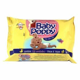 Lenços Umedecidos Baby Poppy - Premium com Aloe Vera | 100 unidades