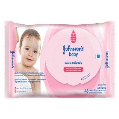 Imagem 3 do produto Toalhas Umedecidas Johnsons Baby Extra Cuidado 48 Unidades -