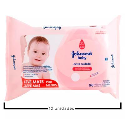 Imagem 2 do produto Kit Johnson's Baby Extra Cuidado - Toalhas Umedecidas - 12x 96Un