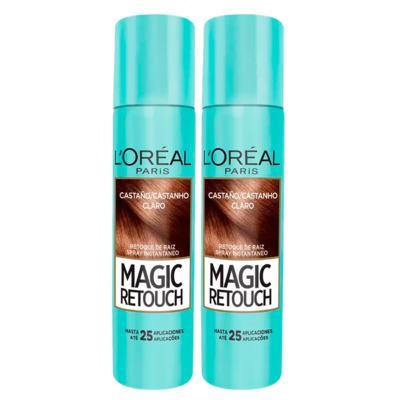 Imagem 3 do produto L'Oréal Paris Magic Retouch + Ganhe Cicatri Renov Kit - Leave-In + 2 Corretivos Capilar Castanho Claro - Kit