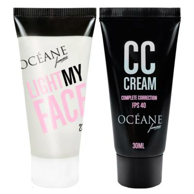 Imagem 2 do produto Océane Light My Face + Complete Correction Kit - Iluminador Facial + CC Cream - Kit