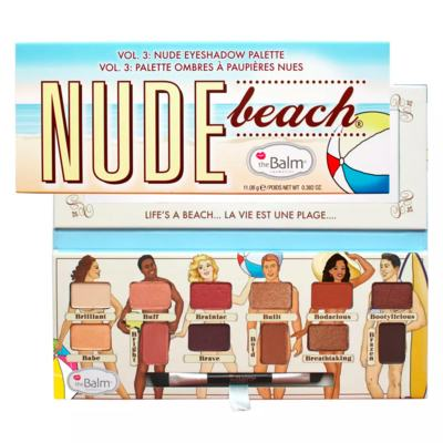 Imagem 3 do produto The Balm Nude Beach + Read My Lips Hubba Hubba Kit - Paleta de Sombra + Gloss Labial - Kit