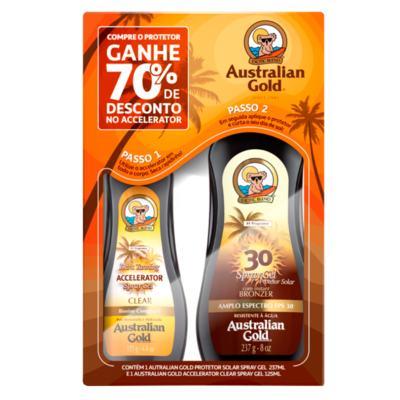 Australian Gold Dark Tanning Kit - Protetor Solar + Acelerador - Kit