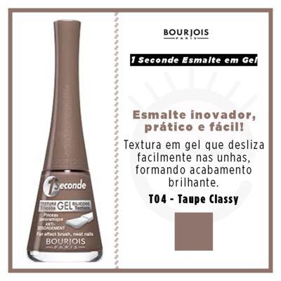 Imagem 4 do produto 1 Seconde Gel Bourjois - Esmalte - T04 - Taupe Classy