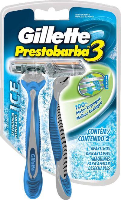 Imagem 1 do produto Aparelho de Barbear Gillette Prestobarba 3 Ice - 2 Unidades