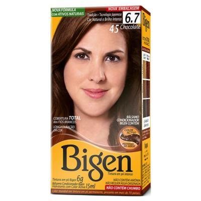 Tintura Para Cabelo Bigen - 45 Chocolate | 1 unidade