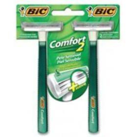 Aparelho de Barbear Bic - Comfort Twin Pele Sensível | 2 unidades