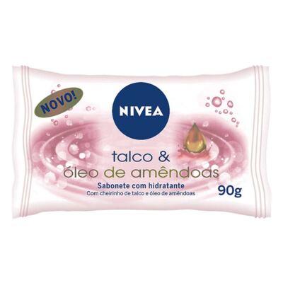 Imagem 1 do produto Sabonete Nivea Talco & Óleo de Amêndoas 90g