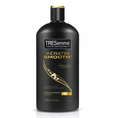 Imagem 2 do produto Kit Shampoo Tresemmé Keratin Smooth 750ml + Creme de Tratamento Capilar Tresemmé Blindagem Platinum 400g