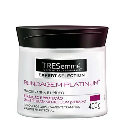 Imagem 3 do produto Kit Shampoo Tresemmé Keratin Smooth 750ml + Creme de Tratamento Capilar Tresemmé Blindagem Platinum 400g