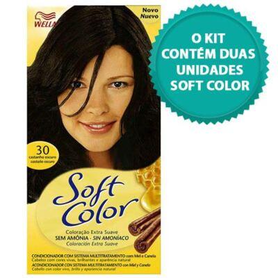 Imagem 1 do produto Tintura Soft Color Novo Castanho Escuro 30 + Tintura Soft Color 30 Castanho Escuro