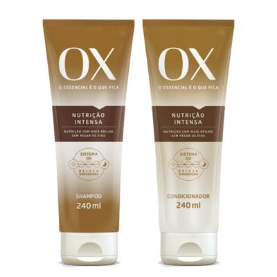 Imagem 1 do produto Kit OX Oils Nutrição Intensa Shampoo + Condicionador 240ml