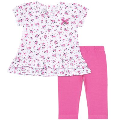 Bata com Legging para bebe em cotton Tropical - Vicky Lipe - 18620001.53 CONJ.BATA C/LEGGING - COTTON-G
