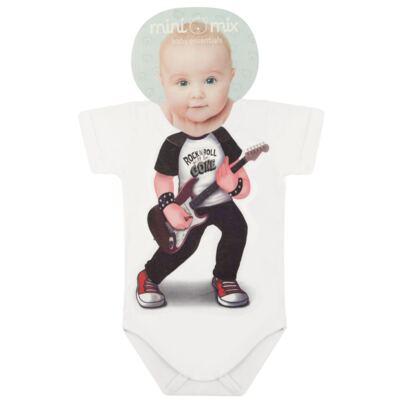 Imagem 1 do produto Body curto para bebe em malha Mini Rock Star - Mini Mix - MXBSM1610 BODY CURTO EM MALHA MINI ROCK STAR-G