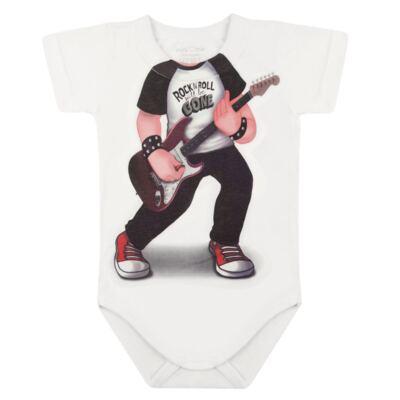 Imagem 2 do produto Body curto para bebe em malha Mini Rock Star - Mini Mix - MXBSM1610 BODY CURTO EM MALHA MINI ROCK STAR-G