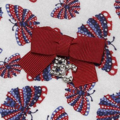 Imagem 3 do produto Blusinha c/ Shorts frufru para bebe em viscolycra Butterflies - Baby Classic - 21001628 BLUSINHA M/C COM SHORTS VISCOLYCRA BUTTERFLY-G