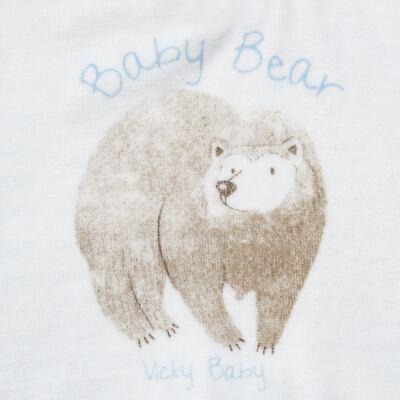 Imagem 3 do produto Blusão com Calça para bebe em plush Forest Bear - Vicky Baby - 1797-4250 CJ BLUSÃO URSO FOREST -G