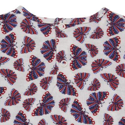 Imagem 4 do produto Blusinha c/ Shorts frufru para bebe em viscolycra Butterflies - Baby Classic - 21001628 BLUSINHA M/C COM SHORTS VISCOLYCRA BUTTERFLY-GG
