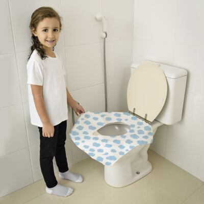 Imagem 1 do produto Protetor Descartável Para Vaso Sanitário 12 Und.  Multikids Baby - BB073