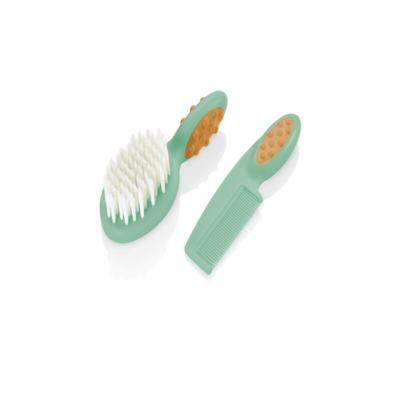 Imagem 1 do produto Pente e Escova para Cabelo Soft Touch Verde Multikids Baby - BB156