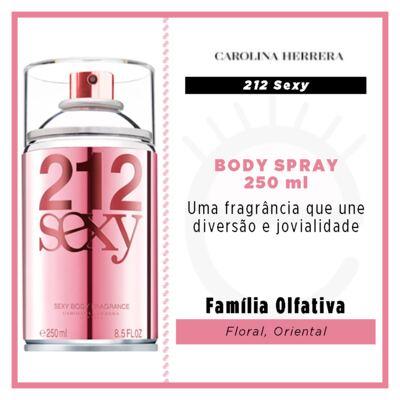 Imagem 2 do produto 212 Sexy Body Spray Carolina Herrera - Perfume Corporal Feminino - 250ml