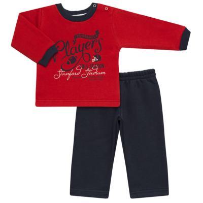 Imagem 1 do produto Blusão com Calça para bebe em moletom Football - Mini Mix - LTCM09 CONJUNTO MOLETOM FOOTBALL VERMELHO/MARINHO-M