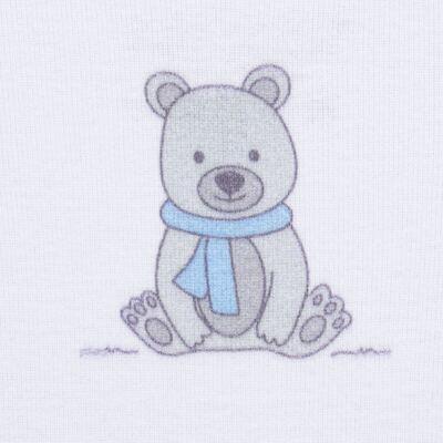 Imagem 3 do produto Body longo c/ Calça para bebe em algodão Ursinho - Dedeka - DDK17647/E176 CONJUNTO DE BODY RIBANA URSINHO-G
