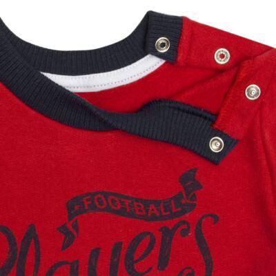 Imagem 4 do produto Blusão com Calça para bebe em moletom Football - Mini Mix - LTCM09 CONJUNTO MOLETOM FOOTBALL VERMELHO/MARINHO-G