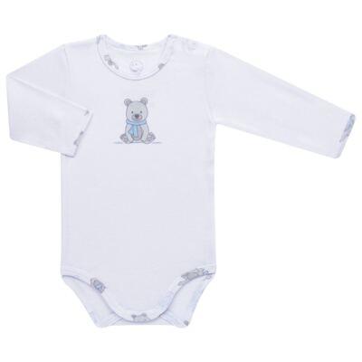 Imagem 2 do produto Body longo c/ Calça para bebe em algodão Ursinho - Dedeka - DDK17647/E176 CONJUNTO DE BODY RIBANA URSINHO-M