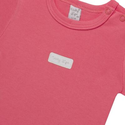 Imagem 2 do produto Body curto para bebe em suedine Candy - Vicky Lipe - BC1379 BODY MC SUEDINE CANDY -G