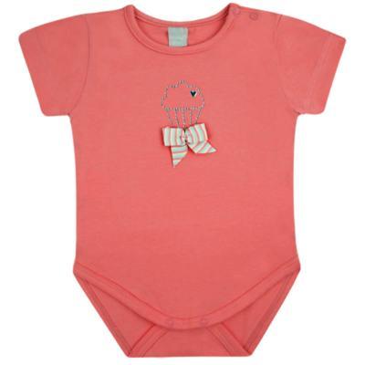 Imagem 1 do produto Body curto para bebe em cotton Strawberry - Vicky Lipe - 89845 BODY MC FEMININO COTTON COELHA-M