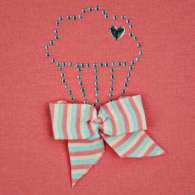 Imagem 3 do produto Body curto para bebe em cotton Strawberry - Vicky Lipe - 89845 BODY MC FEMININO COTTON COELHA-M
