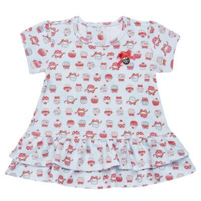 Imagem 2 do produto Bata com Legging para bebe em suedine Cupcakes - Vicky Baby - 1964-704 CJ BATA CORS. CUPCAKE INF SUEDINE-M