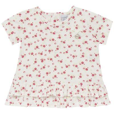 Imagem 2 do produto Bata com Legging para bebe em cotton Flowery Bear - Vicky Lipe - 8341360 CONJ. BATA COM LEGGING COTTON URSA FLORAL-3