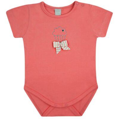 Imagem 1 do produto Body curto para bebe em cotton Strawberry - Vicky Lipe - 89845 BODY MC FEMININO COTTON COELHA-G