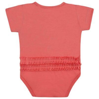 Imagem 2 do produto Body curto para bebe em cotton Strawberry - Vicky Lipe - 89845 BODY MC FEMININO COTTON COELHA-G