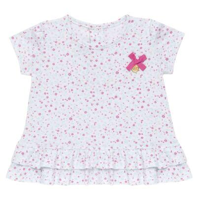 Imagem 2 do produto Bata com Legging para bebe em cotton Aqua Flower - Vicky Lipe - 8341363 CONJ. BATA COM LEGGING COTTON ELEFANTINHO 2-1