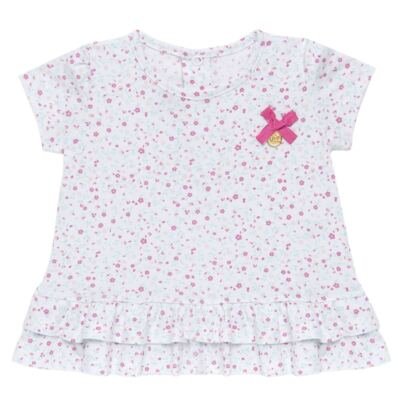 Imagem 2 do produto Bata com Legging para bebe em cotton Aqua Flower - Vicky Lipe - 8341363 CONJ. BATA COM LEGGING COTTON ELEFANTINHO 2-M