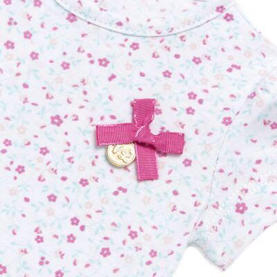 Imagem 3 do produto Bata com Legging para bebe em cotton Aqua Flower - Vicky Lipe - 8341363 CONJ. BATA COM LEGGING COTTON ELEFANTINHO 2-M