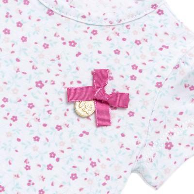 Imagem 3 do produto Bata com Legging para bebe em cotton Aqua Flower - Vicky Lipe - 8341363 CONJ. BATA COM LEGGING COTTON ELEFANTINHO 2-P