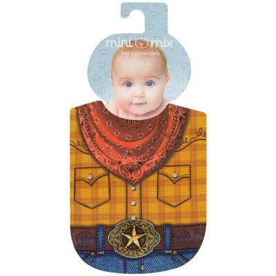 Imagem 1 do produto Babador Maxi em suedine Mini Cowboy - Mini Mix - MXBAM416 BABADOR MAXI SUEDINE COWBOY